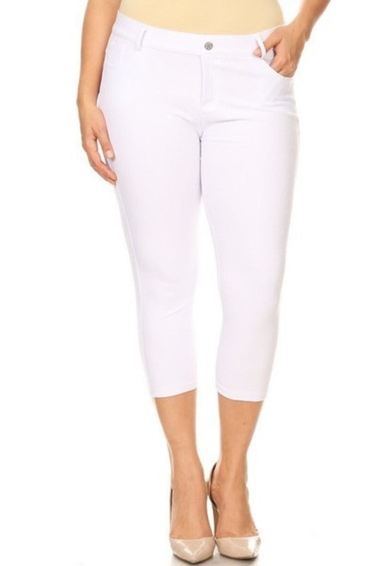 Jegging Capris White