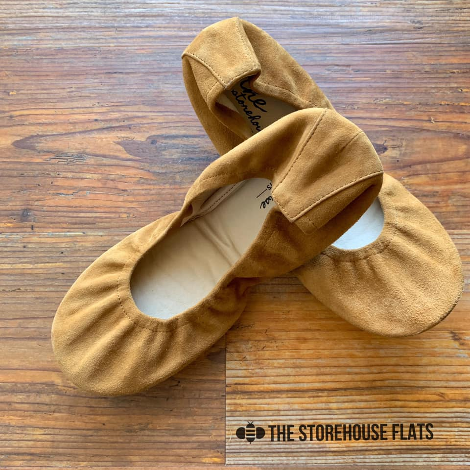 Storehouse Flats Camel Suede