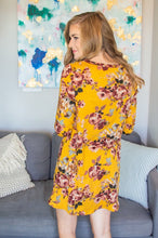 Load image into Gallery viewer, Lounge Dress | Mustard Floral
