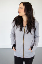 Load image into Gallery viewer, Steel Grey Full Zip Hoodie