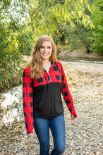Load image into Gallery viewer, Buffalo Half Zip | Black and Red