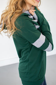 Hunter Green/Heather Grey Varsity Hoodie