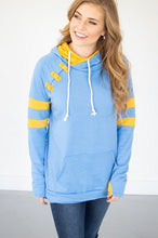 Load image into Gallery viewer, Sky Blue/Gold Varsity Hoodie
