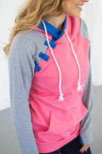 Load image into Gallery viewer, Passion Pink Color Block Hoodie