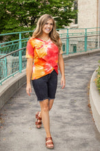 Load image into Gallery viewer, Sunrise Tie Dye Slouchy Pocket Tee