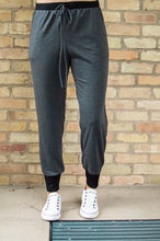 Load image into Gallery viewer, Accent Joggers | Charcoal and Black