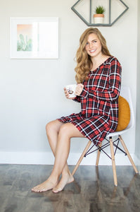 Lounge Dress | Black and Red Plaid