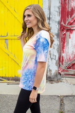 Load image into Gallery viewer, In your Dreams V-Neck Tee | Tie Dye at Dusk