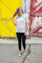 Load image into Gallery viewer, In your Dreams V-Neck Tee | Seaside Tie Dye