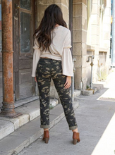 Load image into Gallery viewer, L&B Camo Distressed Boyfriend