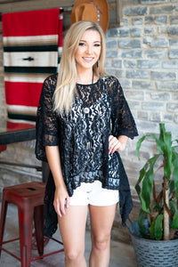 Lace Asymmetric Tee