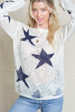 Load image into Gallery viewer, Star Distressed Sweater