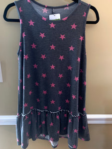 Sleeveless Ruffle Star Top