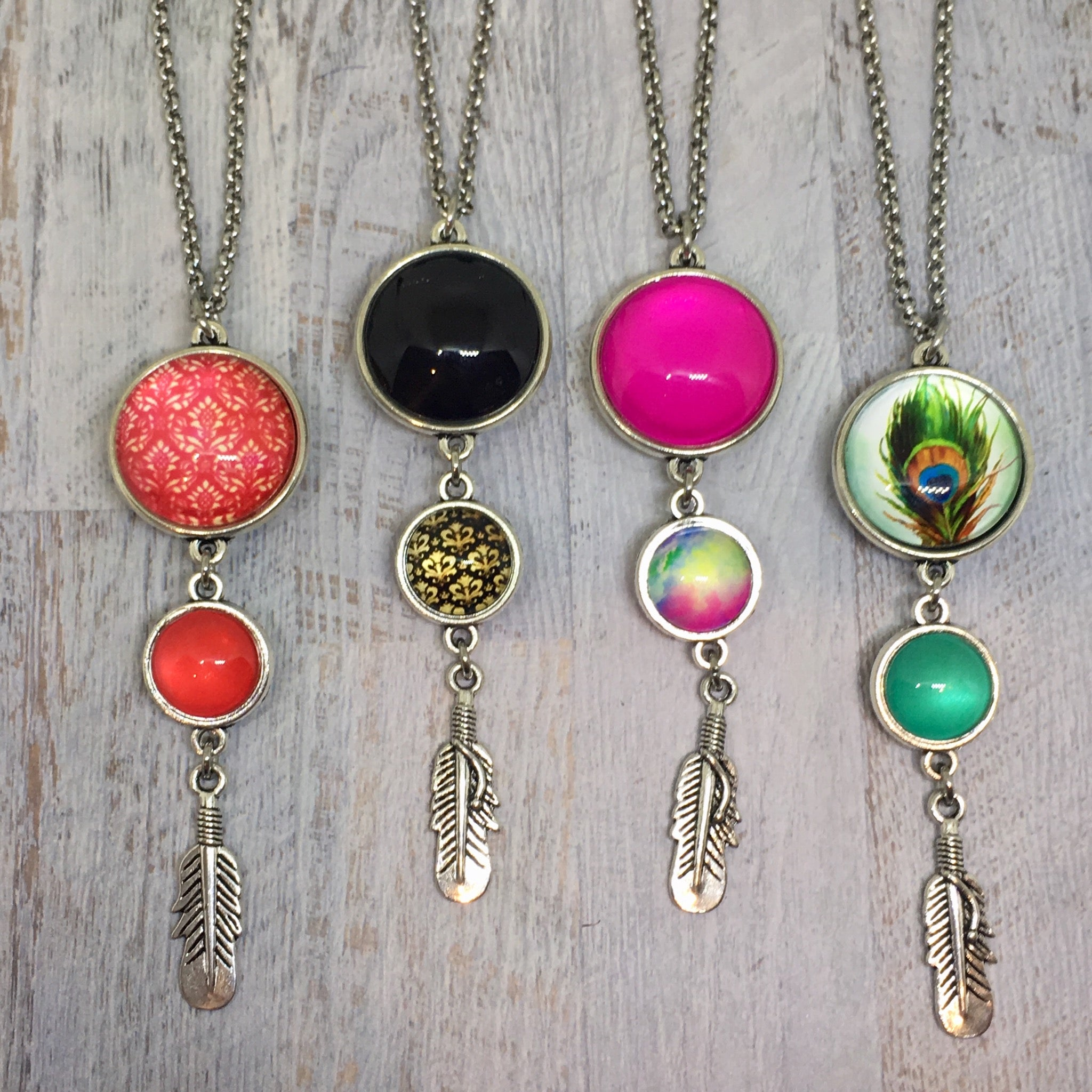 Triple Drop Dome Necklaces - Lots of styles