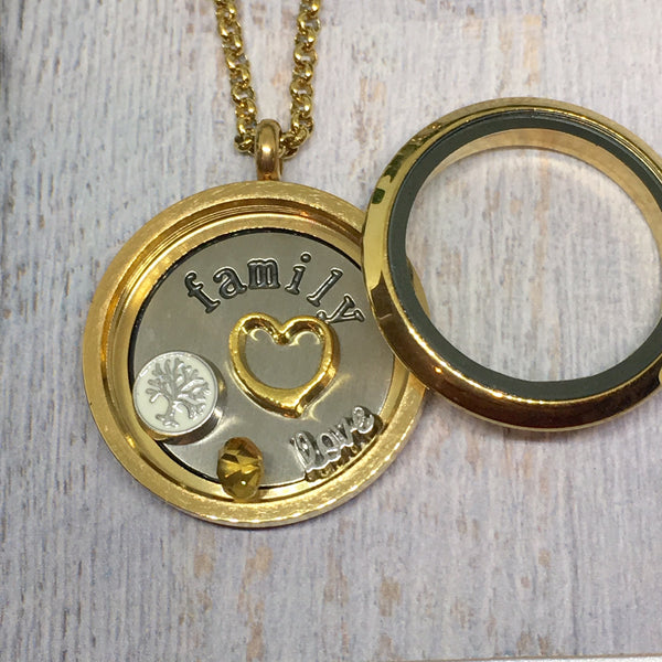 Floating Locket Necklace- GOLD