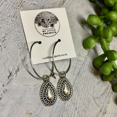 Hoop Earrings (Silver) - many styles