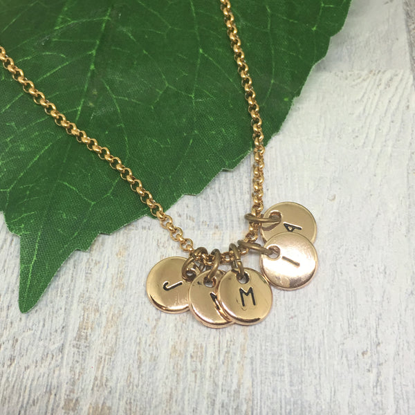 Personalised Letter Necklace - ROSE GOLD
