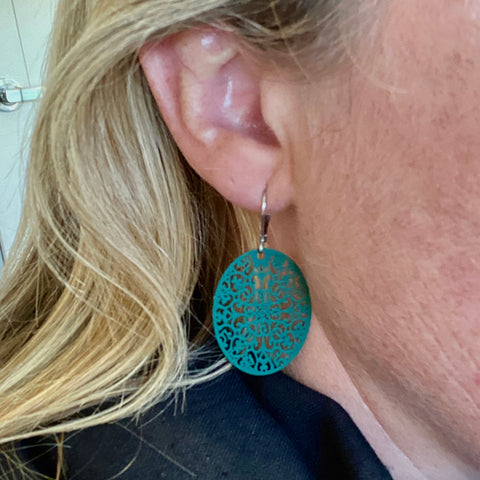 Oval Lasercut Earrings