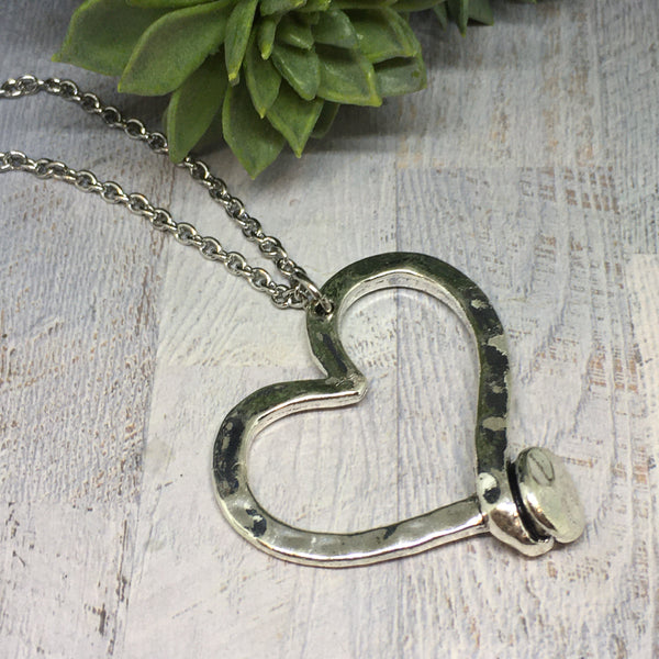 Twisted Love Heart Necklace