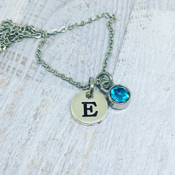 MINI Personalised Letter Necklace - SILVER
