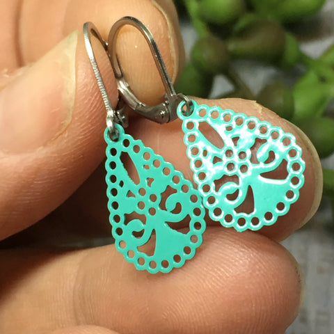Doily Earrings - lots of colours