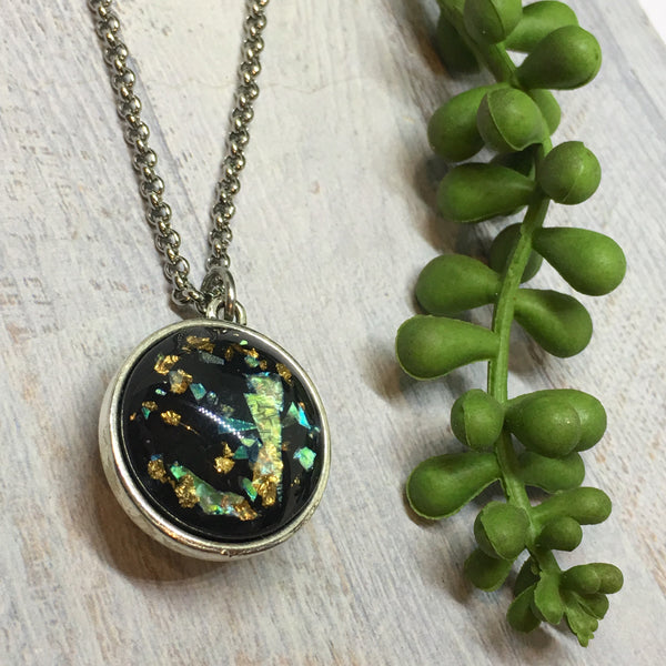 Foil & Resin Double sided Necklaces