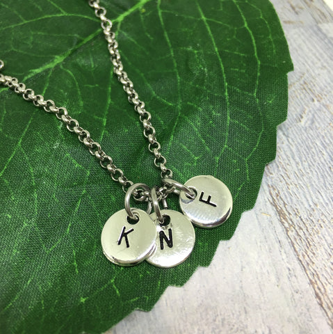 Personalised Letter Necklace - SILVER