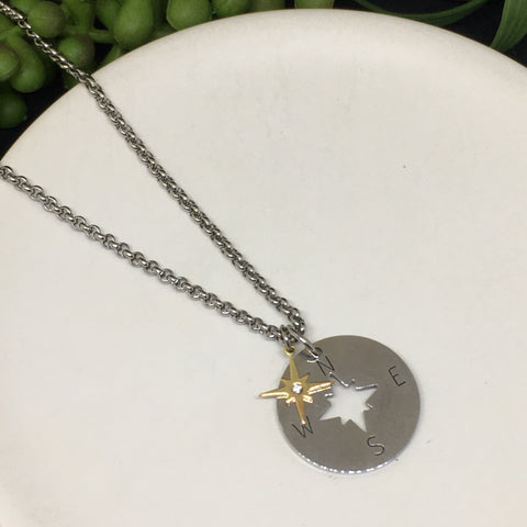 Compass Necklace - in silver or gold