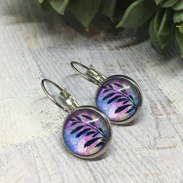 Earrings - Patterns & Prints SILVER French Drop - 12mm