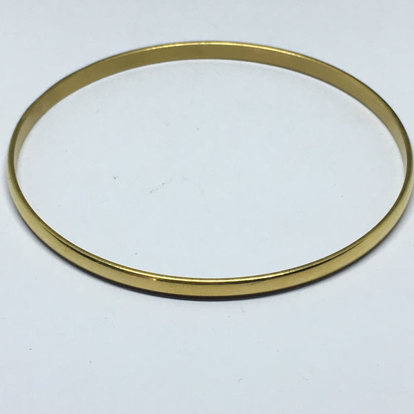 Gold coated stainless steel bangles