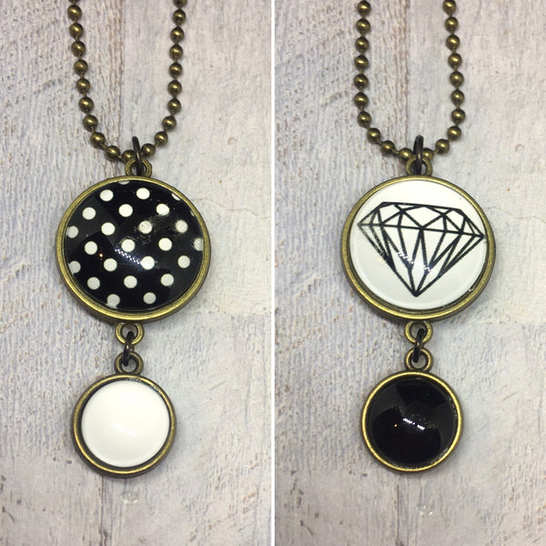 Double Sided Necklaces in BRONZE