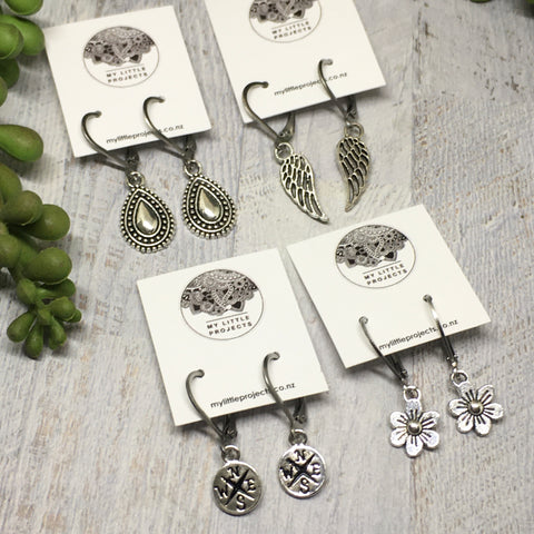 Silver Lever back Earrings - LOTS of styles