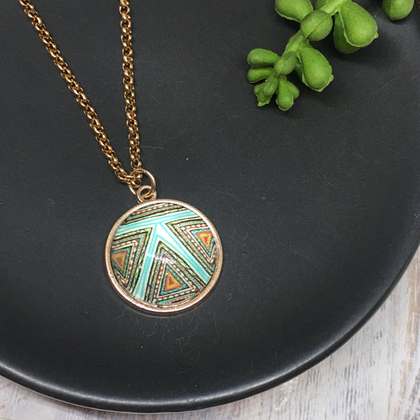 Rose Gold Dome Necklaces
