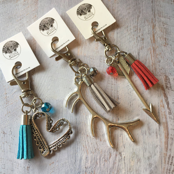Keyrings with Tassel - lots of designs