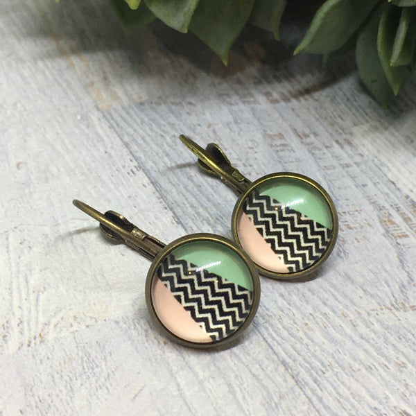Earrings - BRONZE French Drop - 12mm