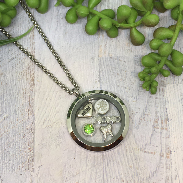 Floating Locket Necklace - SILVER