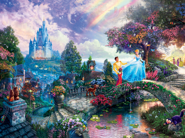 Thomas Kinkade Disney - Cinderella Wishes Upon a Dream - Perfect Piece Count