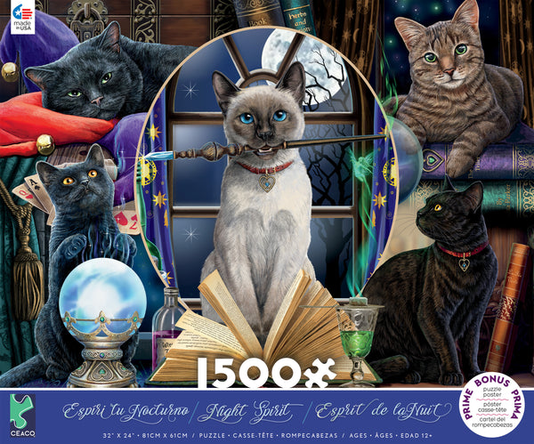 Lisa Parker- Spell Cats - 1500 Piece Puzzle