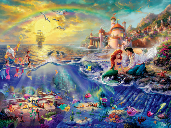 Thomas Kinkade Disney - The Little Mermaid - Perfect Piece Count