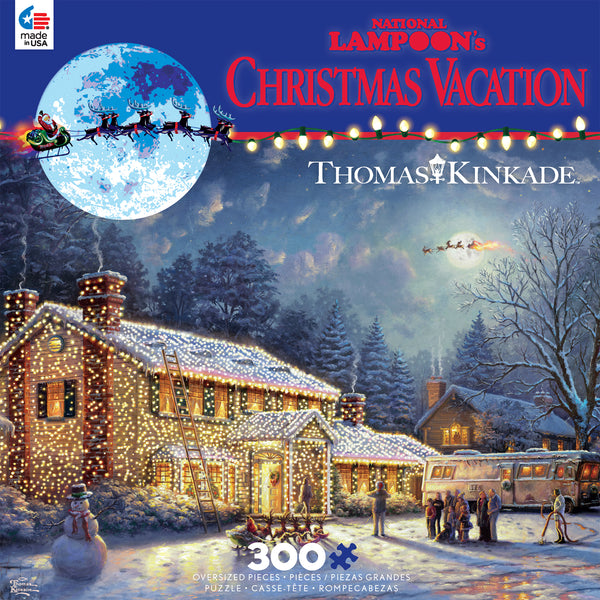 Thomas Kinkade Holiday Movies - National Lampoon's Christmas Vacation - 300 Piece Puzzle