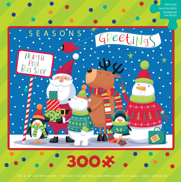 Holly Jolly Holiday - Holiday Bus Stop - 300 Piece Puzzle