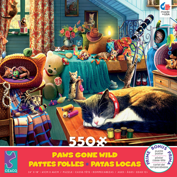 Paws Gone Wild - Kitten Play - 550 Piece Puzzle