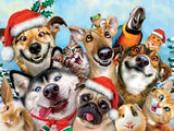 Selfies Christmas - Christmas Doggy Selfie - 550 Piece Puzzle
