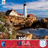 Around the World USA - Portland Headlight - Maine - New England - 550 Piece Puzzle