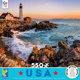 Around the World USA - Portland, ME - 550 Piece Puzzle