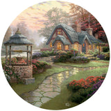 Thomas Kinkade Round - Make a Wish Cottage -  550 Piece Puzzle