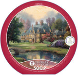 Thomas Kinkade Round - Lakeside Manor -  550 Piece Puzzle