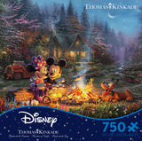 Thomas Kinkade Disney - Mickey and Minnie Sweetheart Fire - 750 Piece Puzzle