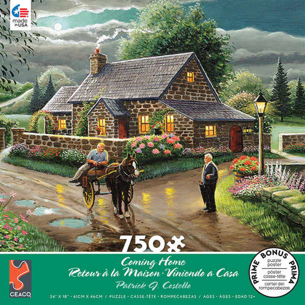 Patrick J. Costello - Lakeside Cottage - 750 Piece Puzzle