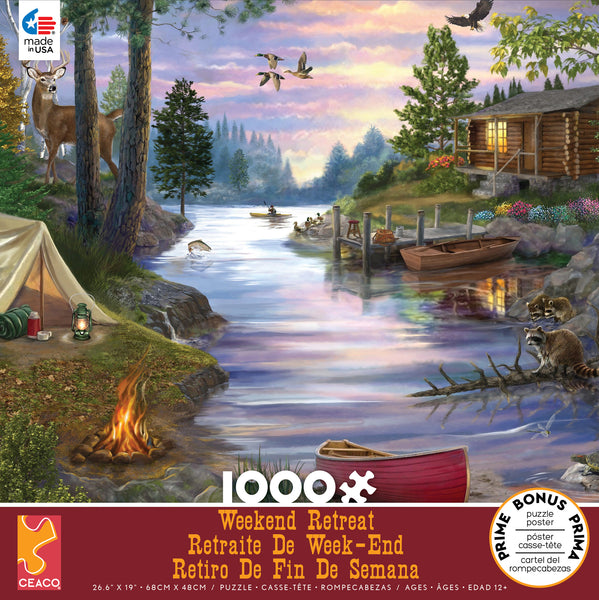 Weekend Retreat - Cabin Lake - 1000 Piece Puzzle